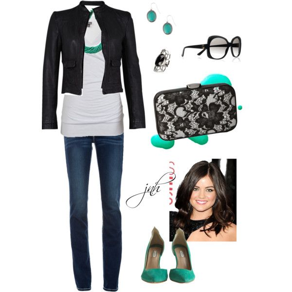 """""""Outfit (turquoise and black)"""" by jill-hammel on Polyvore: Fashion 3Mi Style, 2013 Style, Fashion Style, Fashion3Mi Style, Shorts Jackets, Outfits Turquoise, Aqua, Bigger Closet, Jillhammel"""