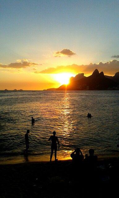 Por do sol / Sunset - Arpoador, Rio de Janeiro.