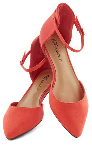 Zapatos de mujer - Womens Shoes - Stylish Peach Flat Shoes