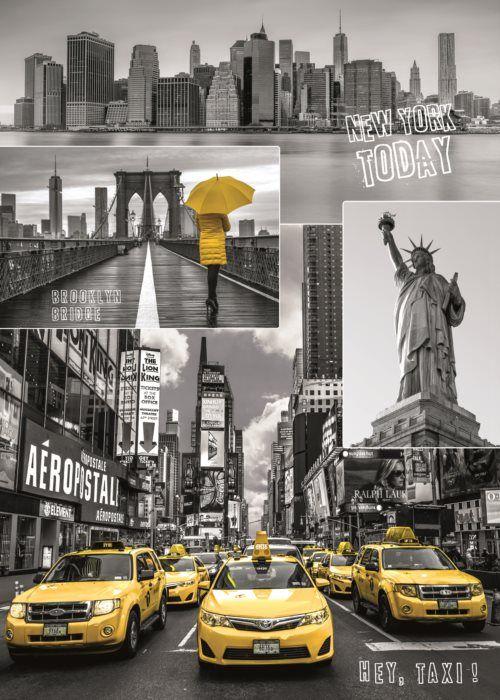 Puzzle DINO 1000 dílků - New York, USA - koláž