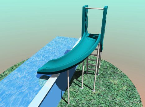 swimming pool slides for above ground pools - Diy Above Ground Pool Slide