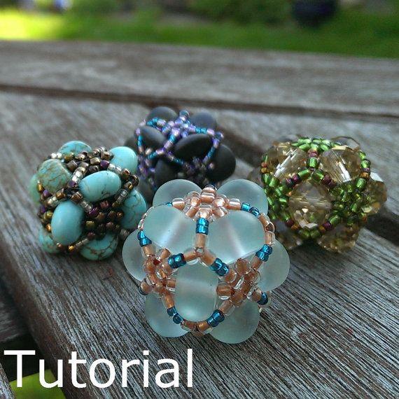 Magic Eight Beaded Bead Pattern/Tutorial Instant by BearlyBeaded