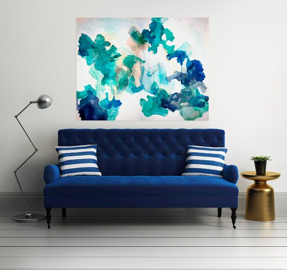 Large Abstract Painting Print Abstract Art on by LikeWilliamStudio