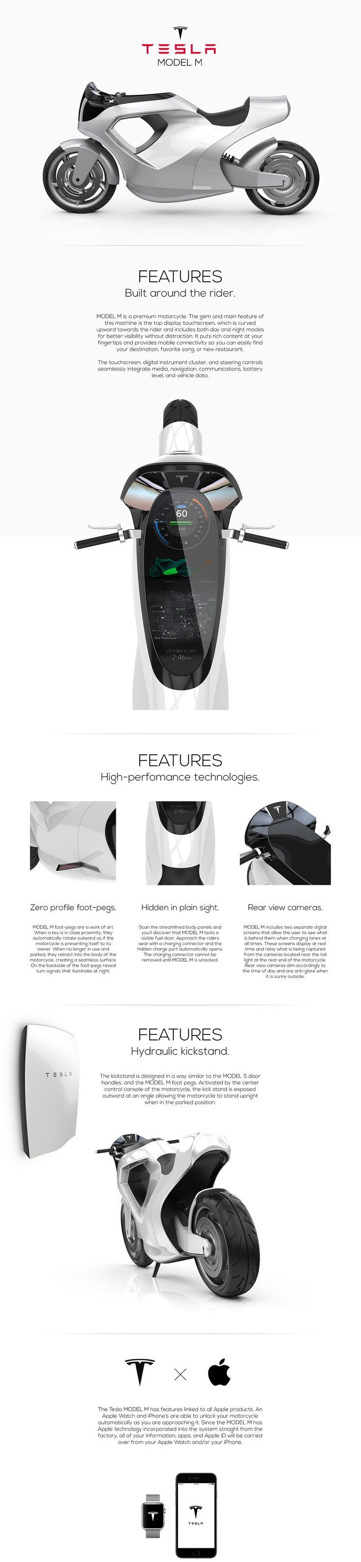 #TESLA MODEL M on Behance  #ev
