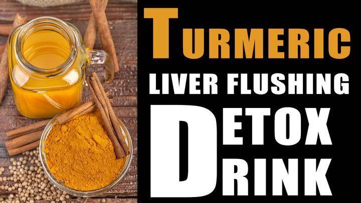 Turmeric Liver Flushing Detox Drink #LiverDetoxSymptoms