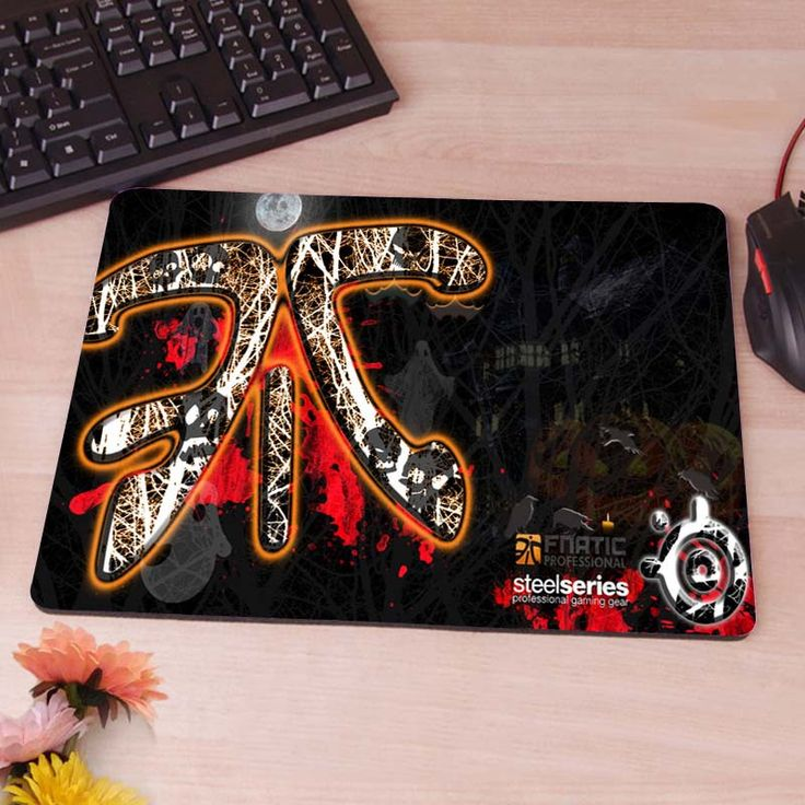 Fnatic Logo Dark Mousepad Mouse Pad pc mac laptop notebook usb hwd Gamer anti slip