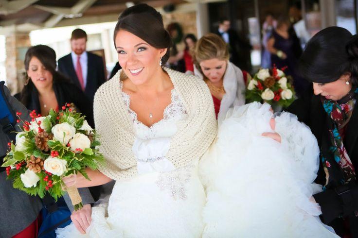 Winter wedding shawl