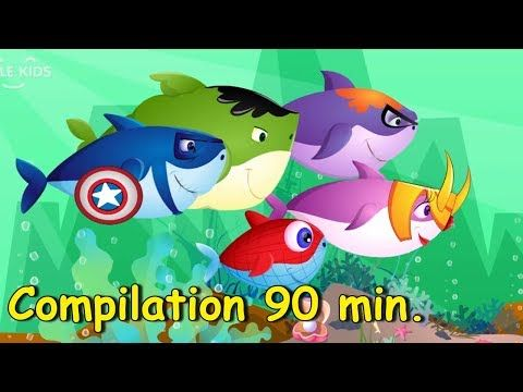 Baby Shark Compilation (90 min) | + More Kids Songs | Nursery Rhymes & Cartoon Songs for Kids - YouTube