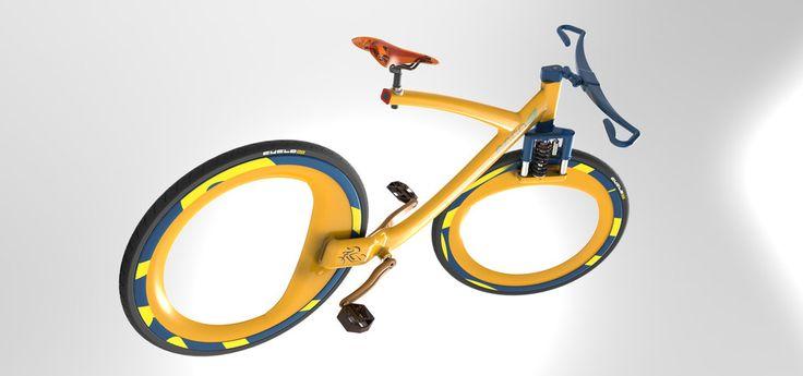 futuristic e-bicycle concept - SOLIDWORKS - 3D CAD model - GrabCAD
