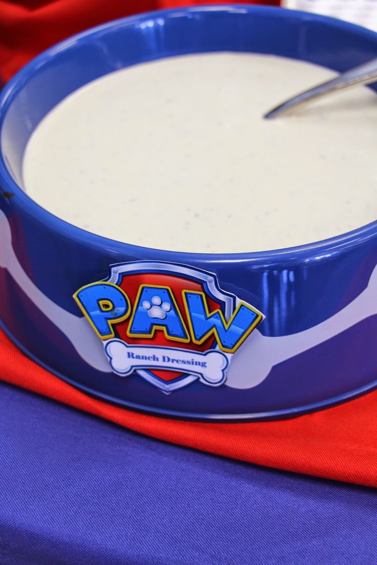 Paw Patrol Paw-ty food table and food labels