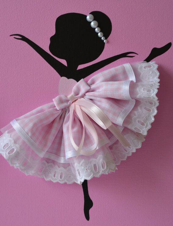 Conjunto de tres bailarinas baila en rosa. por FlorasShop en Etsy                                                                                                                                                                                 Más