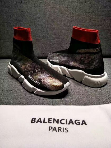 Balenciaga Speed Knit Color Pattern Logo Black Buy Sneaker ... a899fcd815
