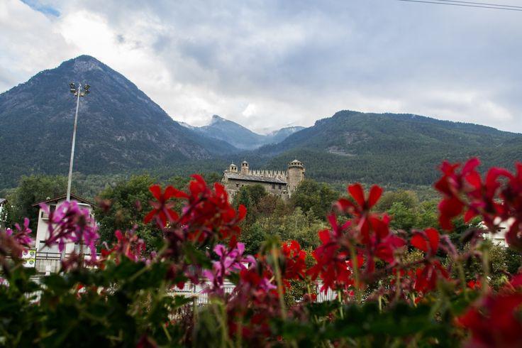 vista dalla camera da letto #castello di #fenis #hcdc