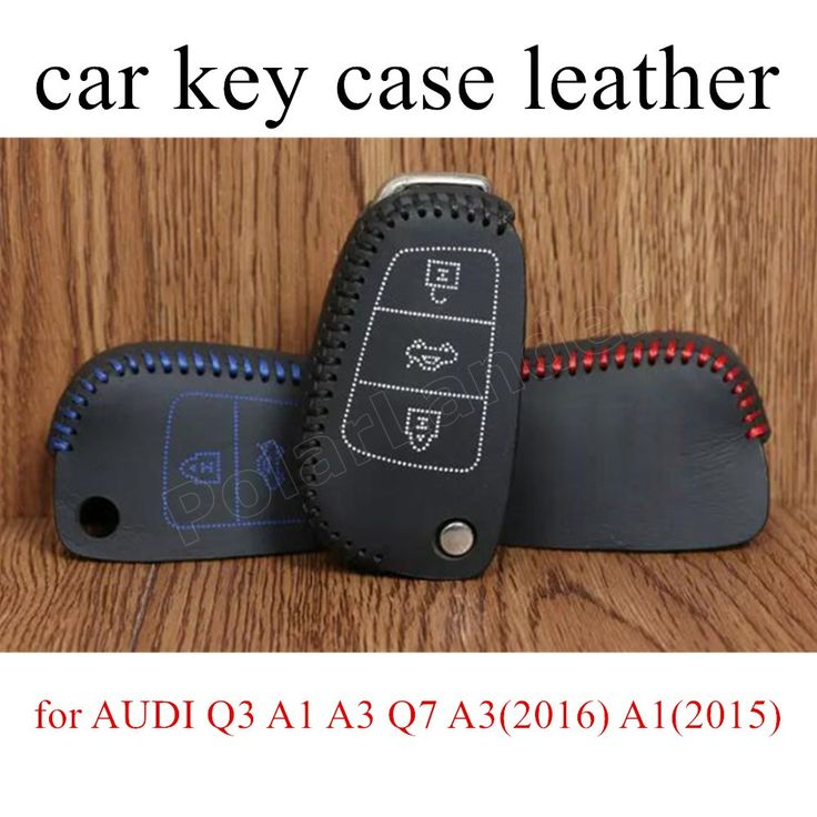 for AUDI Q3 A1 A3 Q7 A3(2016) A1(2015) A3(2015) S3(2014) Case car key case Hand sewing cover DIY Genuine leather car accessory #Affiliate