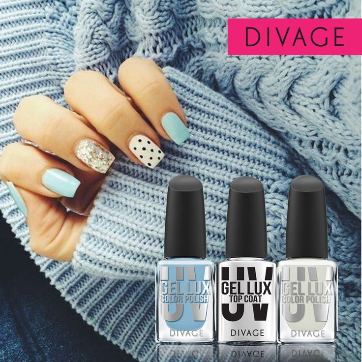 #divage #nail #sweater #blue