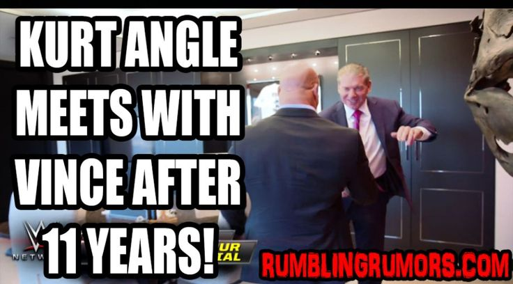 Watch Vince McMahon Meet Kurt Angle For The First Time In 11 Years! – RumblingRumors