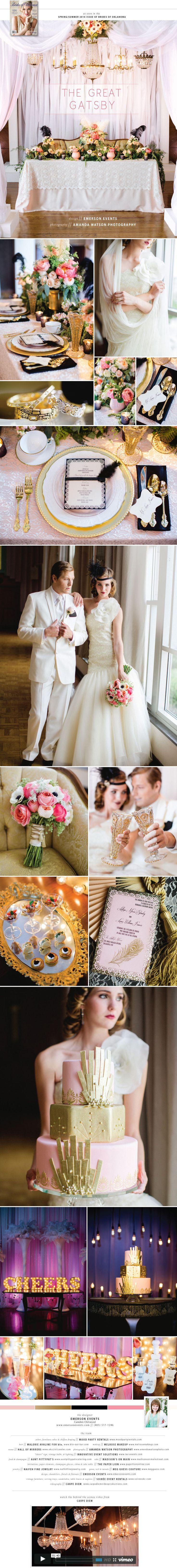 The Great Gatsby wedding inspiration