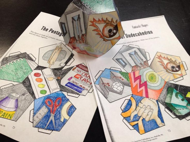 Alicia Jaynes York--- Art Teachers--- Facebook---- Haven't made geometric forms with my students in many years, but with some grades making trimester digital portfolios, I feel this is a good balance for those without 1:1 tech.