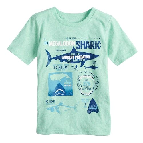Boys 4-10 Jumping Beans® Megalodon Shark Graphic Snow Nep Tee