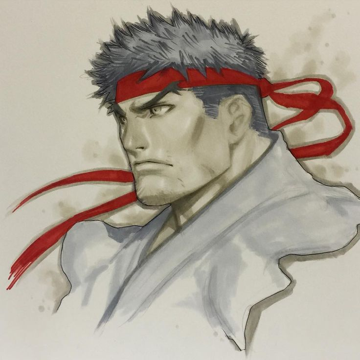 """""""Hadouken! Ryu Sketch from @fanexpocanada! Last day of the show, so come by and pick up the final copies of #nixandscratches, found a secret stash! #ryu…"""""""