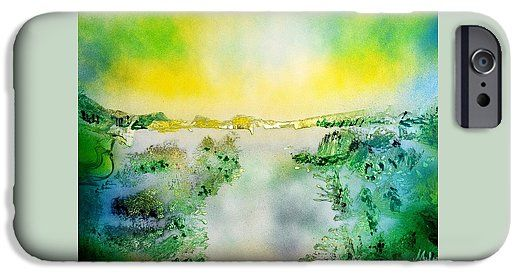 Lake Of Transparency IPhone 6s Case Printed with Fine Art spray painting image Lake Of Transparency by Nandor Molnar (When you visit the Shop, change the orientation, background color and image size as you wish)