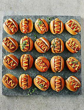 20 Mini Posh Hot Dogs