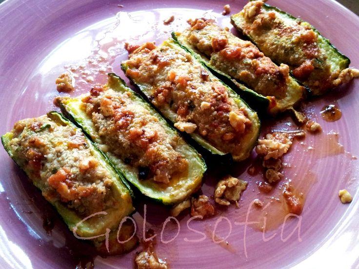 Zucchine ripiene al forno-ricette secondi di carne-golosofia
