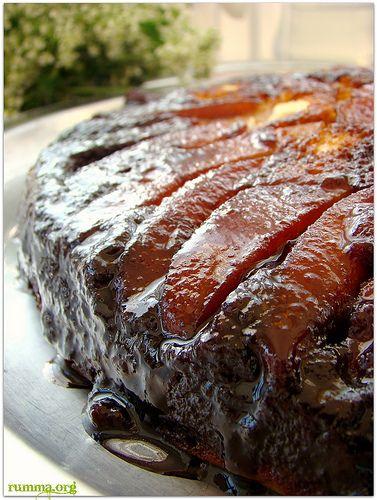 Elmalı pekmezli alt üst kek - rumma - rumma