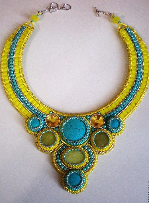 Beautiful Embroidered Jewelry By Anna Galash Beads Magic