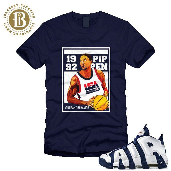 NIKE AIR MORE UPTEMPO OLYMPIC - BLUE - OLYMPIC CARD - SS / NAVY (MEN)