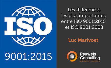 Le 23/09/2015 a été publiée la nouvelle norme ISO 9001:2015. Vous retrouverez ici les différences les plus importantes entre ISO 9001:2015 et ISO 9001:2008.