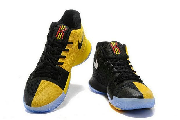 huge selection of d9170 a54d7 Authentic Nike Kyrie 3 Game 3 PE Black Yellow Brand sneaker ...