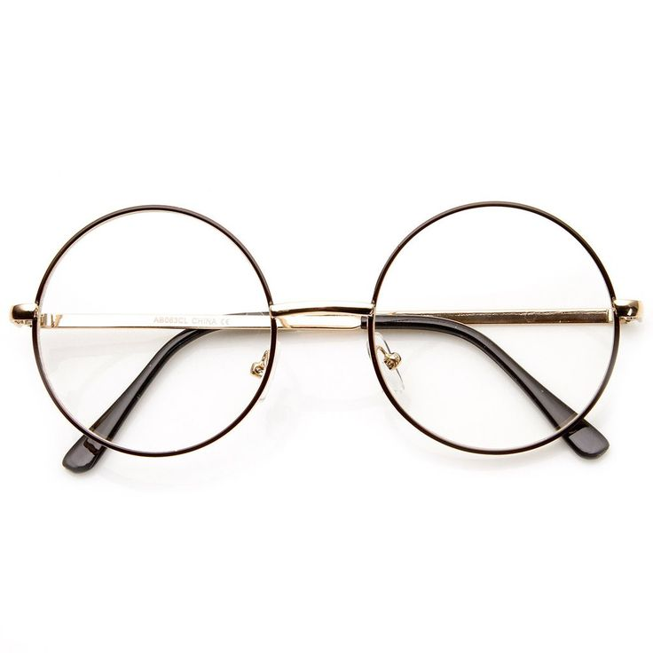 Mid sized round circular glasses that features a full metal frame and clear lenses. These round glasses are perfect for someone looking for a Lennon metal circl