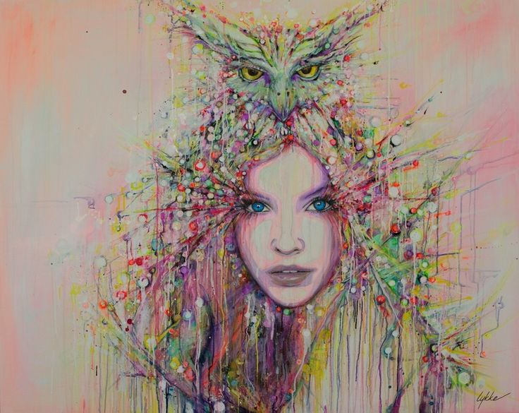 "Saatchi Online Artist: Lykke Steenbach Josephsen: ""Wisdom"". Mixed Media, 2013, Painting."