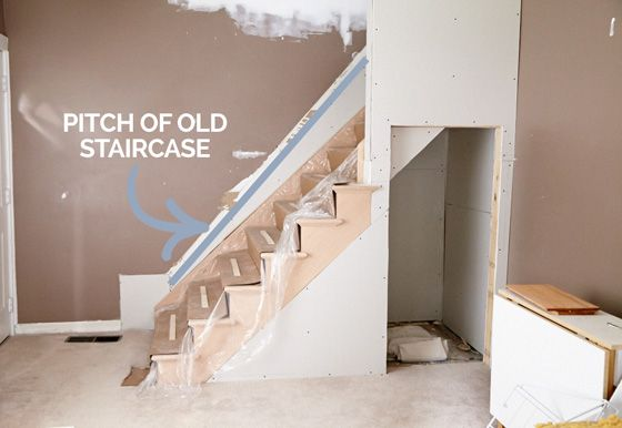 changing a stair case from a steep pitch to code