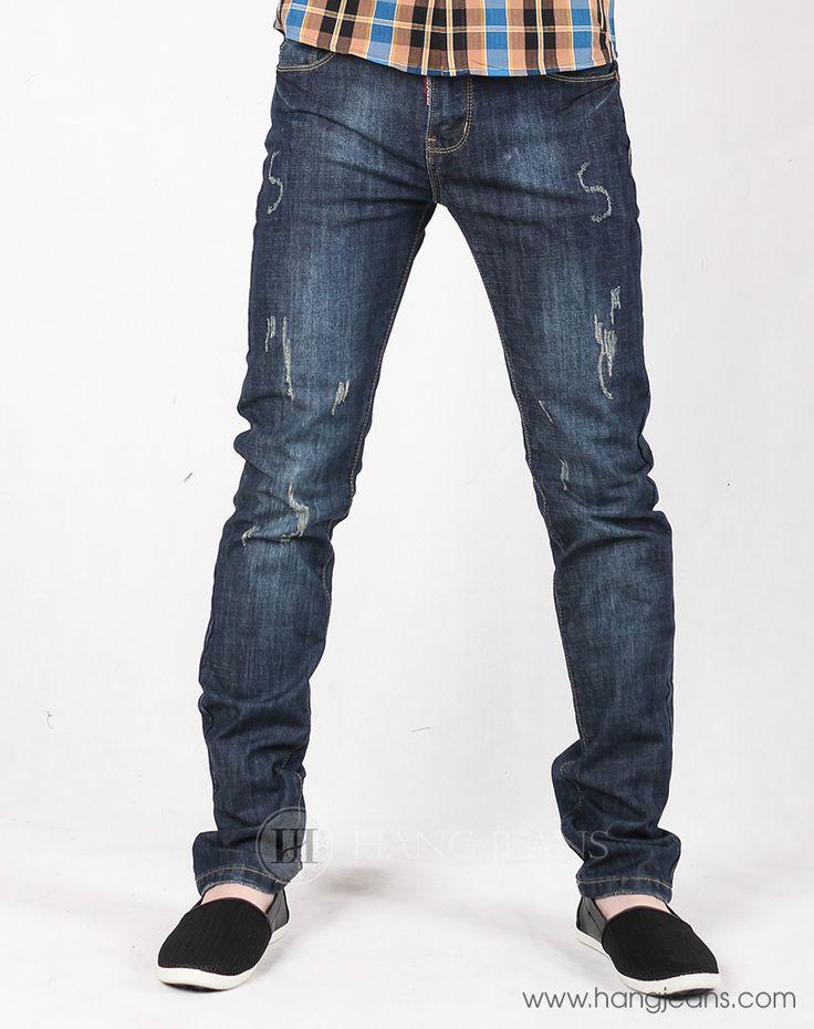 Hằng Jeans - Quần jeans nam mài xước sành điệu 15T1212