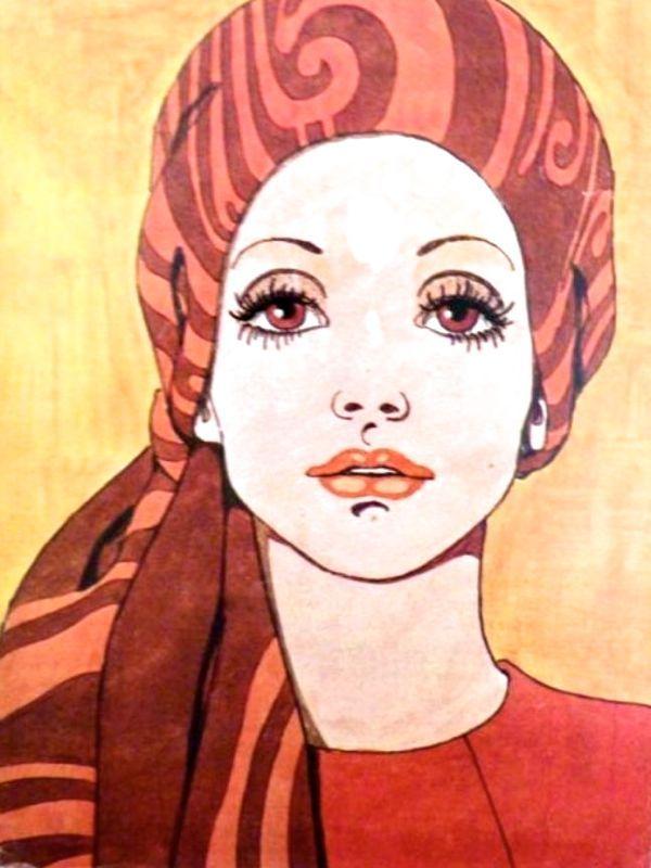 Fashion illustration from 1971