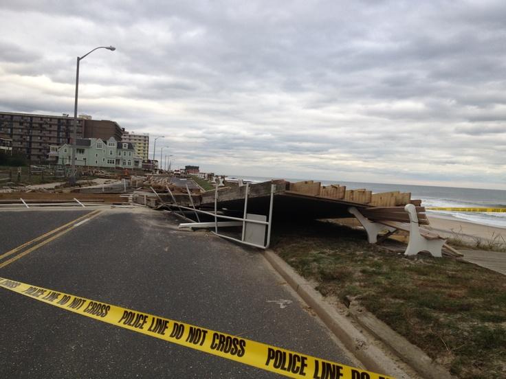 Boardwalk Long branch, NJ | Hurricane Sandy 2012 Long ...