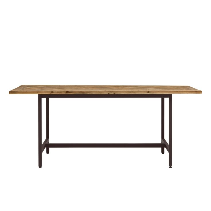 Parquet Recycled Timber Dining Table from Domayne Online
