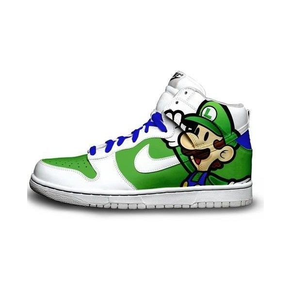 com for For Sale,Dunk Sky High Casual Shoes Luigi Bros Cartoon Mens