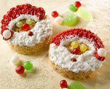 Rice Krispies Santa Claus Faces #holidaybaking #recipe #ricekrispies #treats #santaclaus #kidsactivity