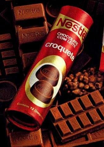 Croquete de chocolate