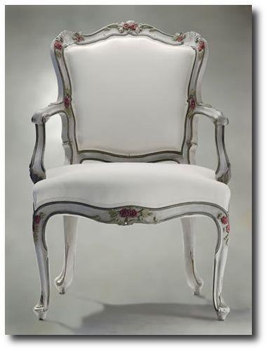 Italian Antique Painted Armchair · Antike Französisch MöbelBarocke  MöbelSchlafzimmermöbelWeiß ...