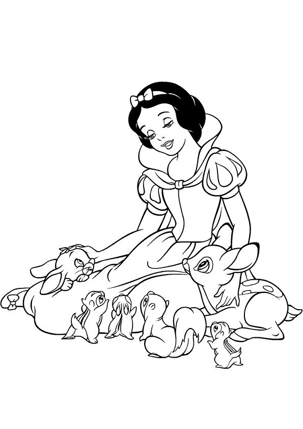 15 best Snow White Coloring Pages images on Pinterest | Snow white ...