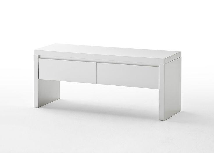 Sitzbank Bianco Hochglanz weiß passend zum Möbelprogramm Bianco 1 x Sitzbank mit 2 Schubkästen Maße: B/H/T ca.   111 x 48 x 38 cm Material:...