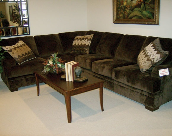 Best Olympian Chocolate 2 Piece Sectional Couch Sectional 400 x 300