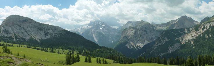Dolomiti (Italy). L'Alpe Lerosa con la Croda d'Ancona e la Tofana di Mezzo.