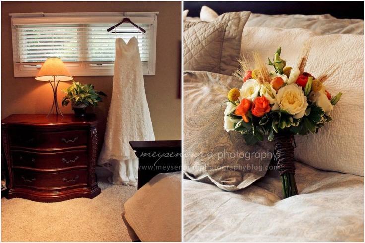 dress shot, flowers, wedding day details, lace wedding dress: Lace Weddings, Wedding Dressses, Wedding Photography, Lace Wedding Dresses, Flowers Wedding, Wedding Day