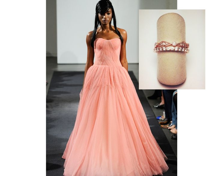 1000 images about weddings color on pinterest halo for Vera wang rose wedding dress