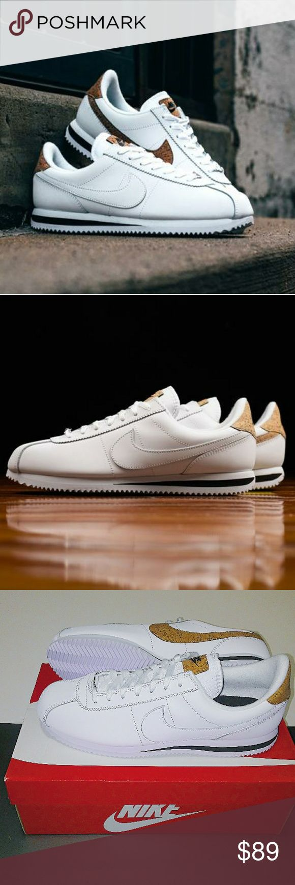 Men's Nike Cortez Leather Premium (Size 13) Brand new in box 100% authentic Excellent condition Size 13 Men White /Cork color way Ships doubled boxed Secured packaging Same day/Next day shipping nike Shoes Sneakers
